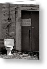 The Electric Outhouse Greeting Card by   Joe Beasley
