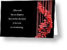 The Elegance Of Truth Greeting Card by Mike Flynn