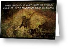 The Elephant - Inner Strength Greeting Card