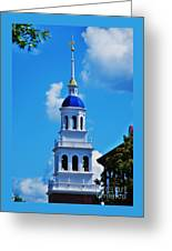 The Eliot House Tower, Harvard Greeting Card