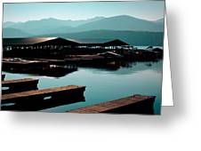 The Elkins Boathouse On Priest Lake Greeting Card