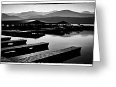 The Elkins Marina On Priest Lake Idaho Greeting Card