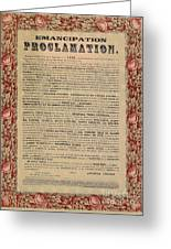 The Emancipation Proclamation Greeting Card by American School