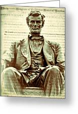 The  Emancipation Proclamation And Abraham Lincoln Greeting Card
