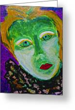 The Emerald Lady Greeting Card