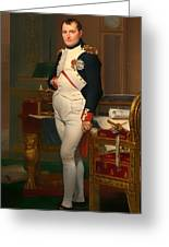 The Emperor Napoleon In His Study 1812 Greeting Card