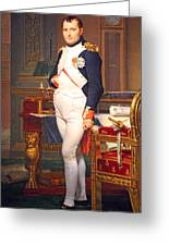 The Emperor Napoleon In His Study At The Tuileries By Jacques Louis David Greeting Card