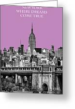 The Empire State Building Pantone African Violet Greeting Card