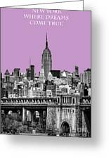 The Empire State Building Pantone African Violet Light Greeting Card