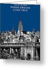 The Empire State Building Pantone Blue Greeting Card by John Farnan