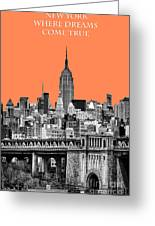 The Empire State Building Pantone Nectarine Greeting Card