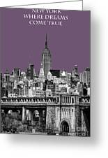 The Empire State Building Plum Greeting Card