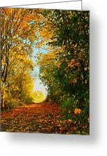 The End Of The Road. Greeting Card