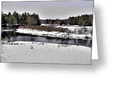 The End Of Winter On The Moose River Greeting Card
