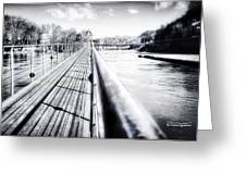 The Endless Bridge Greeting Card