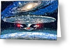 The Enterprise Greeting Card by Joe Misrasi