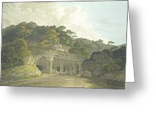 The Entrance To The Elephanta Cave Greeting Card