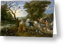 The Entry Of The Animals Into Noahs Ark Greeting Card