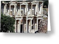 The Ephesus Library In Turkey Greeting Card