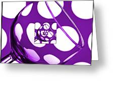 The Eternal Glass Purple Greeting Card