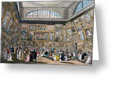 The Exhibition Room At Somerset House Greeting Card