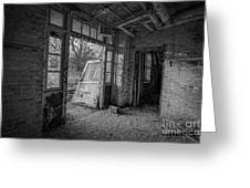 The Exit Bw Greeting Card