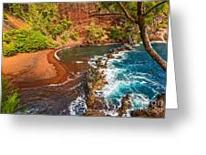The Exotic And Stunning Red Sand Beach On Maui Greeting Card