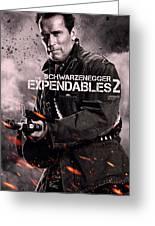 The Expendables 2 Schwarzenegger Greeting Card