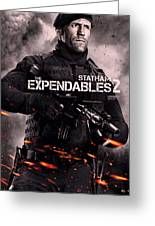 The Expendables 2 Statham Greeting Card