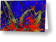 The Explosion Of Color Greeting Card by Doris Wood