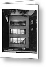 The Exterior Of A Modern Townhouse Greeting Card