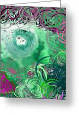 The Eyes Have It Teal Greeting Card