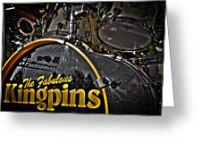 The Fabulous Kingpins Drums Greeting Card