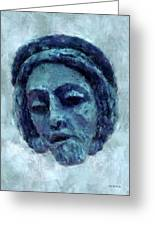 The Face Of Blue Greeting Card