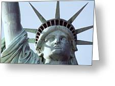 The Face Of Liberty  Greeting Card