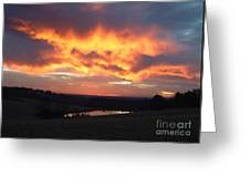 The Sunrise Face In The Clouds Greeting Card