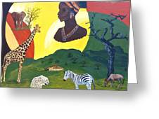The Faces Of Africa Greeting Card