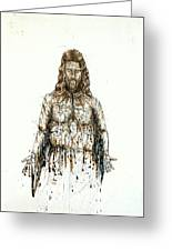 The Faces Of  Body Of Jesus Christ Greeting Card