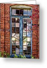 The Factory Window Greeting Card