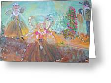The Fairies And The Artist Greeting Card
