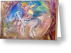The Fairy And The Unicorn  Greeting Card