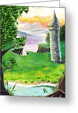 The Fairy Tale Tower Greeting Card