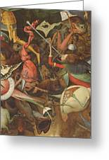The Fall Of The Rebel Angels, 1562 Oil On Panel Detail Of 74037 Greeting Card