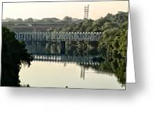 The Falls Bridge Over The Schuylkill River Greeting Card
