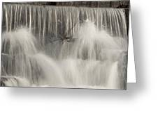 The Falls Greeting Card by Cindy Rubin