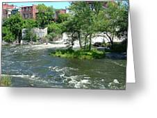 The Falls In Middlebury Greeting Card