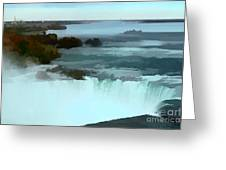 The Falls-oil Effect Image Greeting Card