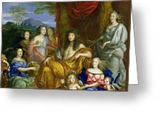 The Family Of Louis Xiv 1638-1715 1670 Oil On Canvas Detail Of 60094 Greeting Card