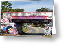 The Famous Graffiti Bridge Greeting Card