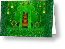 The Fantasy Girl In The Fauna  Greeting Card